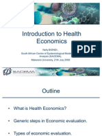 Intro to Health Economics