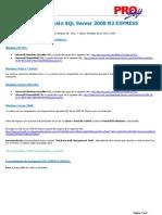 Instalacion SQL Server 2008 R2 Express