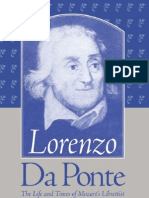 DA PONTE the Life and Times of Mozart
