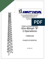 Planos de Montaje Torre 45m-80mph B - 2 Ope Rad Ores