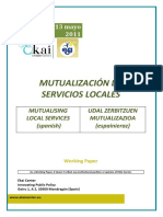 MUTUALIZACIÓN DE SERVICIOS LOCALES - MUTUALISING LOCAL SERVICES (Spanish) - TOKIKO ZERBITZUAK MUTUALIZATUZ (Espainieraz)