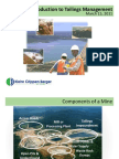 Introduction to Tailings Management
