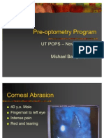 Pre Optometry Program