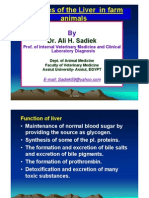 Hepatic problems in farm animal by Prof. Ali sadiek