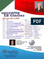 2012 1st Quarter CE Classes
