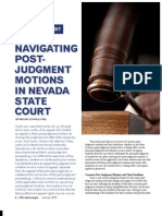 Navigating Post-Judgment Motions in Nevada State Court