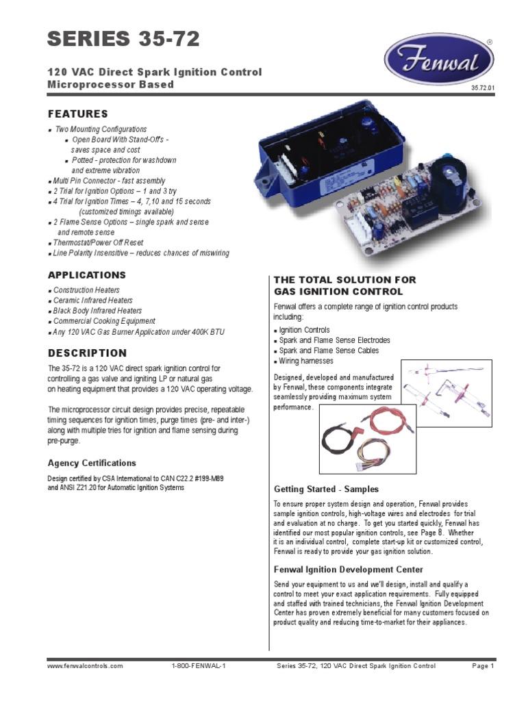 fenwall series35 72 ignition system thermostat rh scribd com