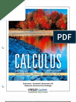 Mccallum - Multi Variable Calculus 5E | Integral | Cartesian
