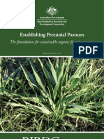 ORGANIC Establishment of Perrennial Pastures