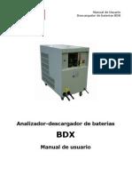 Manual or Baterias Bdx