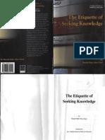 The Etiquette of Seeking Knowledge Bakr Abu Zaid