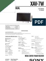 sony xav-7w Service Manual and Schematic