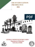 M.ed.Prospectus 2011