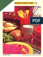 19 Impromptu Party Fare - Betty Crocker Recipe Card Library