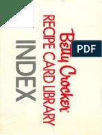 Index - Betty Crocker Recipe Card Library