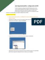 Instalación  y configuración de GPOS