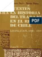 Fuentes para la historia del trabajo en el Reino de Chile. Legislación 1546-1810. T.I.