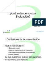 Evaluacion Para El Aprendizaje