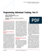 Programming Abdominal Training Part II