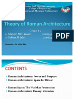 Theory of Roman Architecture