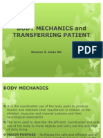Body Mechanics and Transferring Patient