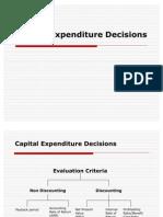 Capital Exp Decisions
