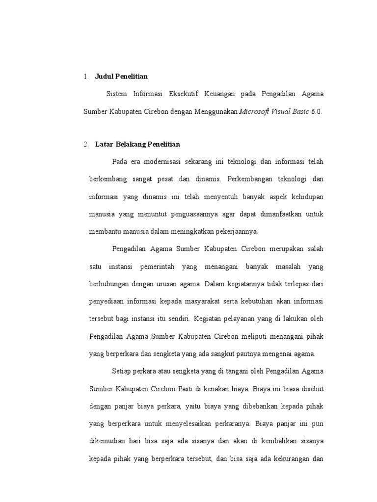 Proposal Tugas Akhir Diploma 3 D3 Komputerisasi Akuntansi