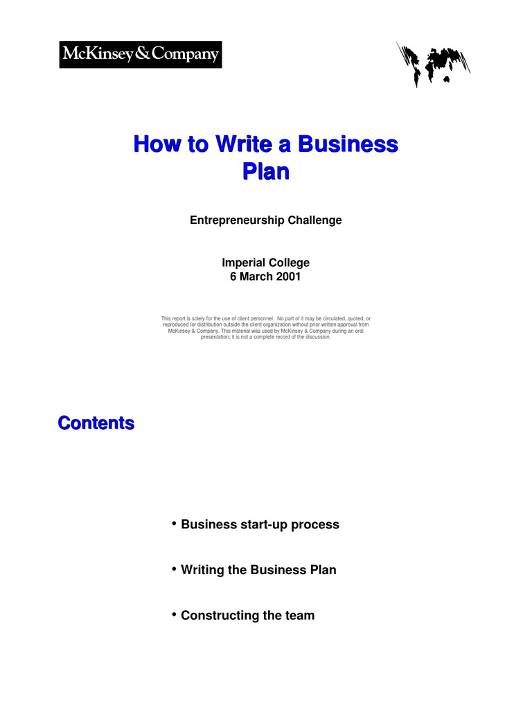 Business plan competition and buying pattern