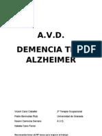 Caso Clínico Paciente Alzheimer - Terapia Ocupacional
