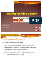 Maaza Marketing Mix Strategy