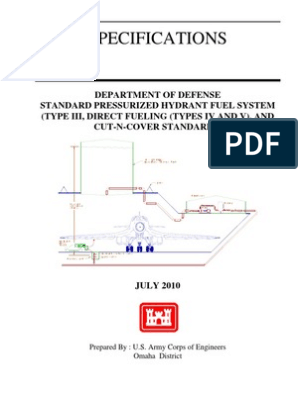DOD Standard Pressurized Hydrant Fuel System - Type III and Cut-N