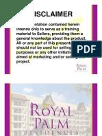 royalpalmresidencesprojectbriefingpptforsellers-13123446522743-phpapp01-110802231426-phpapp01