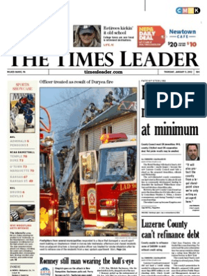 Times Leader 01 05 2012 Mitt Romney American Government