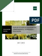 GUÍA DIDÁCTICA SOCIEDAD DEL CONOCIMIENTO, TECNOLOGÍA Y EDUCACIÓN