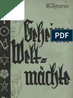 Ipares, S. - Geheime Weltmächte, Eine Abhandlung über die innere Regierung der Welt, Ludendorffs Verlag, Ludendorff