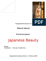 Plan de Afaceri - Restaurant Japonez Japanese Beauty