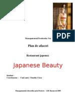 Plan de Afaceri - Restaurant Japonez Japanese Beauty