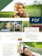 Heidefarmen Rundbrief 2012 Fruehling Sommer fuer Wellnessurlaub in Deutschland