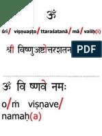108 Names of Lord Vishnu SRS+Devnag Red