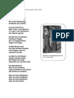 Inventur - Gedicht von Günter Eich ( 1947)