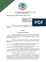 Projeto de Lei nº 083 - PCCR Educacao FINALIZADO 13-10-2011