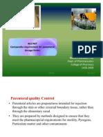 463 PHT Parenteral Quality Control
