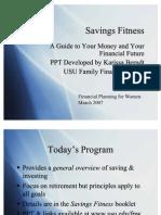 Savings Fitness Short Version