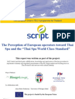 TEC II SCRIPT Project Report the Perception of European Operators Toward Thai Spa Standard Apr11