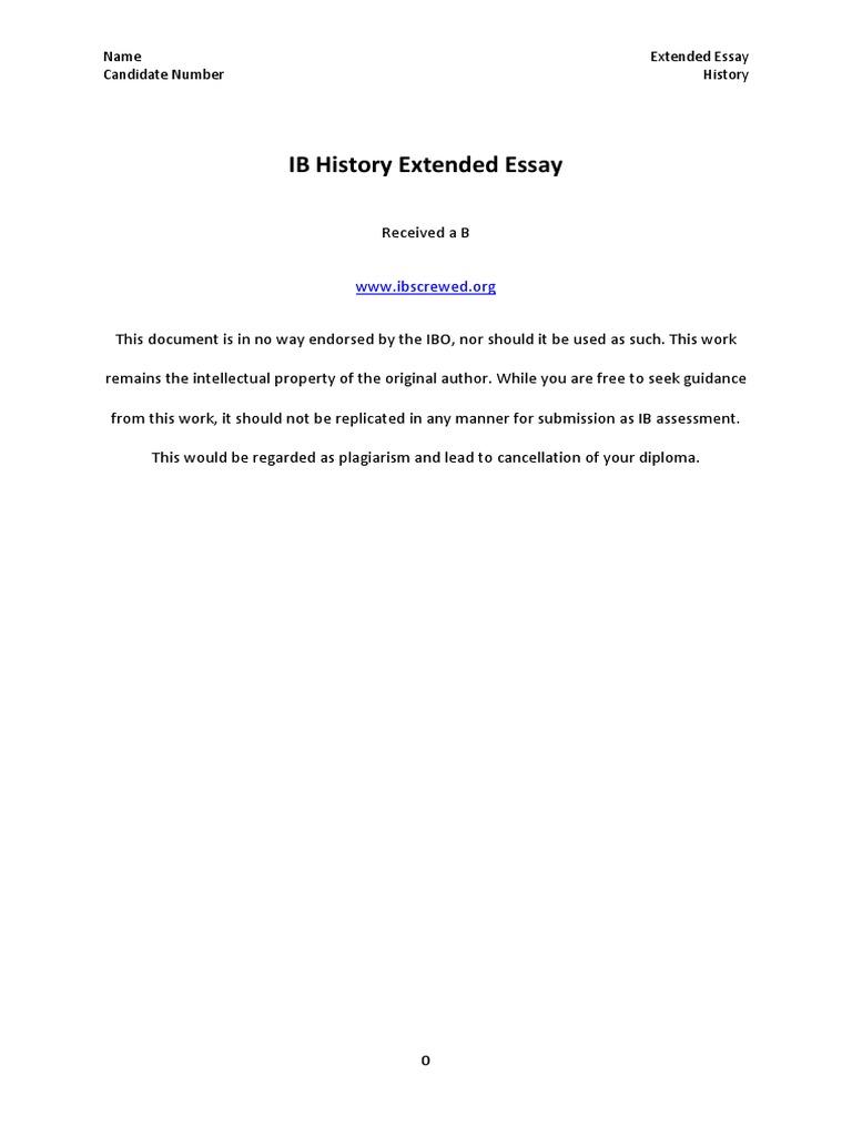 extended essay examples exolgbabogadosco - History Extended Essay Example