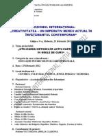"""Proiectul simpozionului """"Metode activ-participative"""" - 2012"""