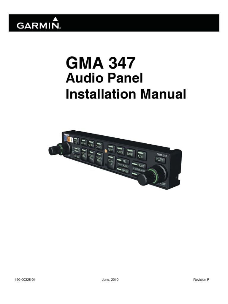 Gma347audiopanel Installationmanual Electrical Connector Garmin 232 Wiring Diagram Electromagnetism