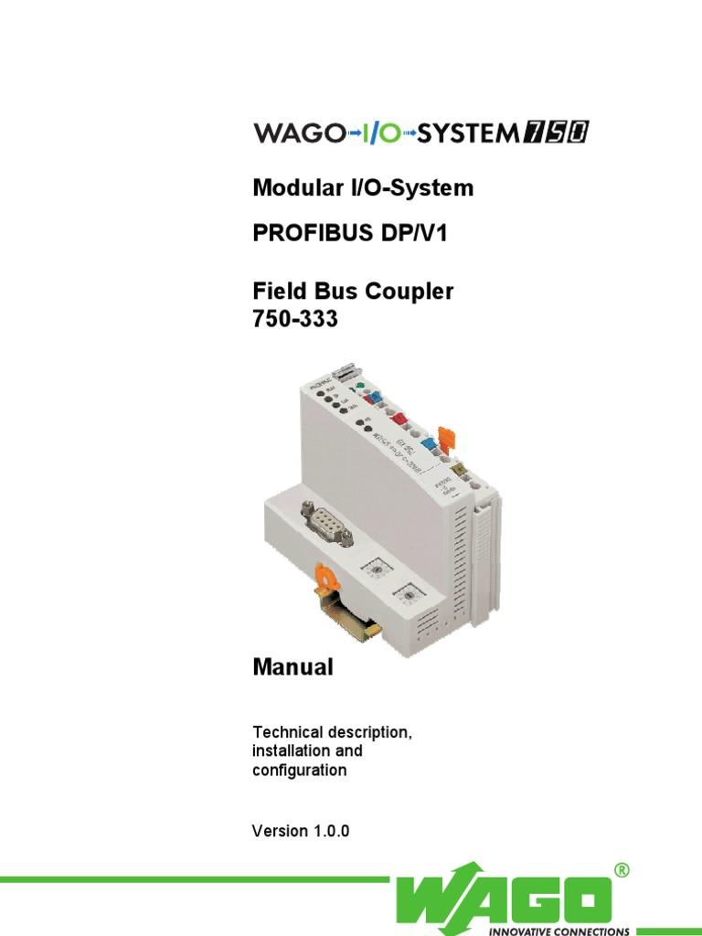 Wago   fieldbus coupler profibus dp (750-333).