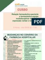 Relação farmacêutico-paciente e farmacêutico-equipe multidisciplinar de sáude - expressão verbal (Aula)