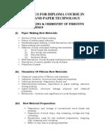 Syllabus Pulp & Paper Technology 110510